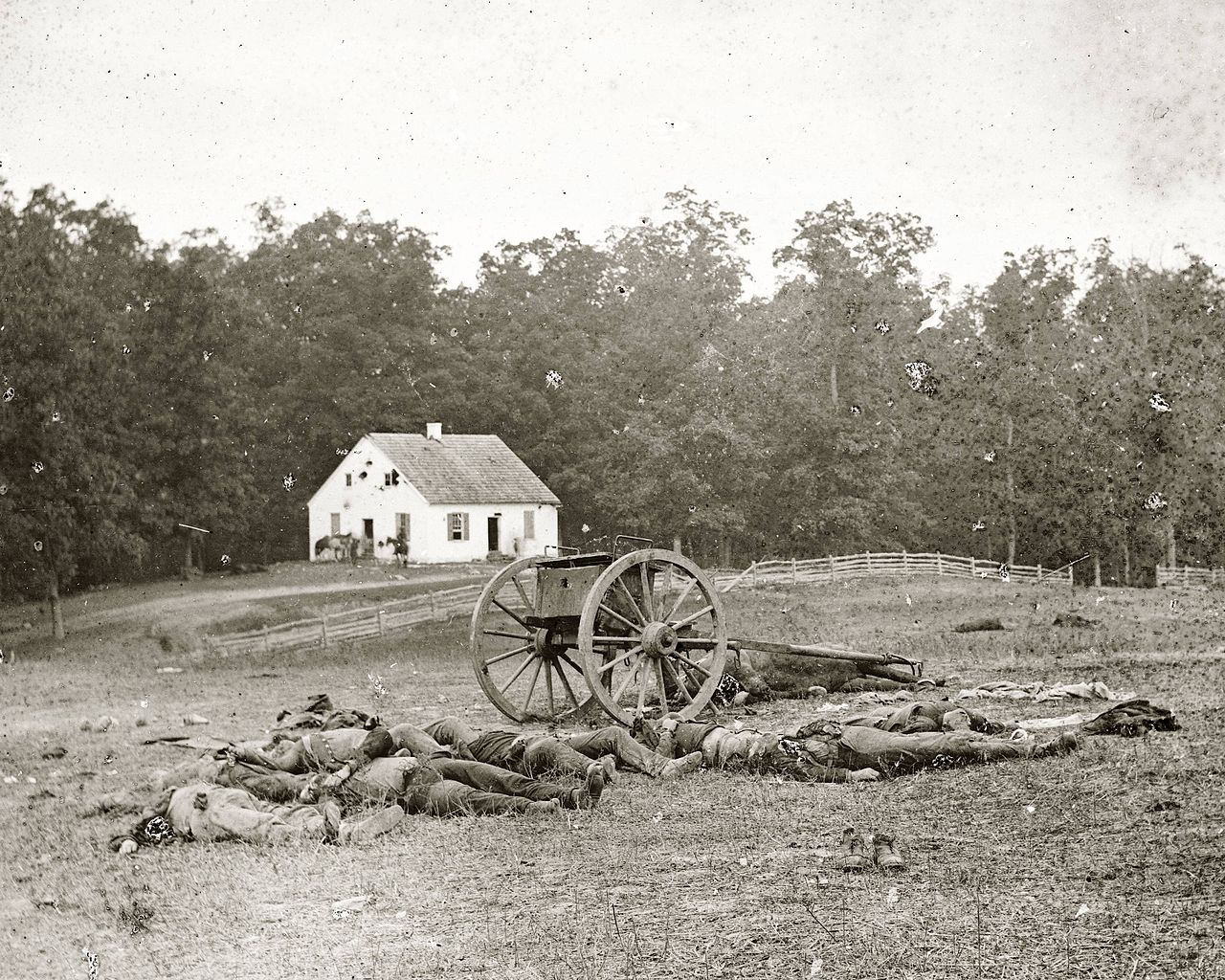 Dead by the Dunkard Church, September 1862, by Alexander Gardner.
